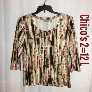 Chico's knit top 2=12 L